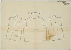Drawing pattern vest, man Bunschoten Vest Pattern, Costume Patterns, Needle And Thread, Dutch, Utrecht, Antique, Sewing, Renaissance, German