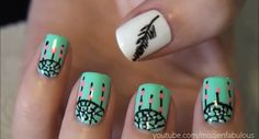 Super Easy Dreamcatcher Nail Art!!