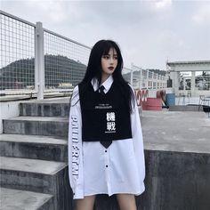Korean Girl Fashion, Korean Street Fashion, Ulzzang Fashion, Harajuku Fashion, Kpop Fashion, Japanese Fashion, Cute Fashion, Korean Fashion, Fashion Models