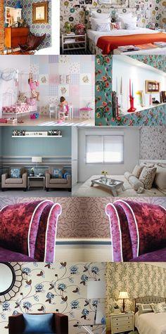 tecido paredes Como decorar gastando pouco: 10 dicas pra deixar seu velho quarto novinho em folha!