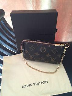 Louis Vuitton mini pochette. The cutest, must have accessory!