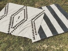 DIY rug. Drop cloth rug. Aztec rug. Hand painted rug