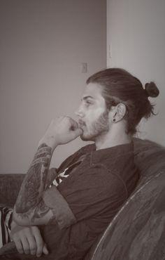 tattoos, gauges, and a manbun......perfection
