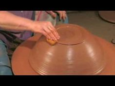 Trimming a Large Clay Bowl on the Potter's Wheel