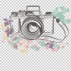 Camera Logo, Camera Art, Camera Sketches, Art Sketches, Camera Cartoon, Blue Butterfly Wallpaper, Camera Illustration, Beach Art, Cartoon Wallpaper