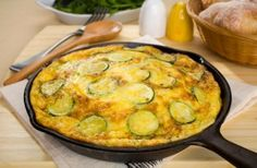 Cheese and courgette tortilla
