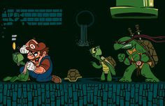Mario Experiences Turtle Power by  Juanma Urbina.