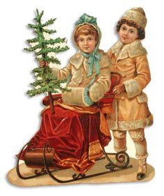 Victorian Christmas Kids Scrap * 1500 free paper dolls Christmas gifts artist Arielle Gabriels The International Paper Doll Society also free paper dolls The China Adventures of Arielle Gabriel *