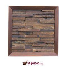 Ručně vyráběný obraz vyskládaný kousek po kousku ze dřeva vysloužilých lodí Dálného východu vsazený do kvalitního dřevěného rámu.   Rozměr obrazu 340 x 340 mm.  Součástí dodávky rámu (obrazu) je kovové očko vč. hřebíčků pro umístění na rám dle potřeb zákazníka. Texture, Wood, Crafts, Surface Finish, Manualidades, Woodwind Instrument, Timber Wood, Trees, Handmade Crafts