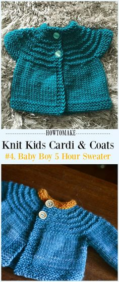816c2d870d803 Baby Boy 5 Hour Sweater Free Knitting Pattern -  Knit Kids  Cardigan  Sweater Free