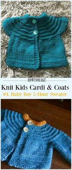 946b80b5b48793 Baby Boy 5 Hour Sweater Free Knitting Pattern -  Knit Kids  Cardigan  Sweater Free