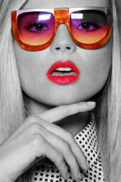sexysassycolor: Redlips Sunglasses
