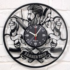 US 2-3 DAYS DELIVERY Barber Shop clock  Barber gifts Shop Wall