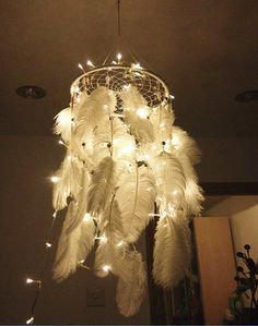 Indian creative handmade LED battery lighting dream catcher