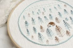 Forest Hand Embroidery Design | Impeccable Hand Embroidery Designs | Sewing Tips, Ideas, And Guide