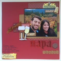 Napa scrapbook layout