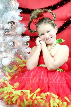 Cindy Lou Who Grinch Petti Tutu Dress by Atutudes
