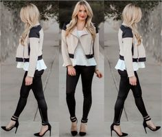 New blog post! Neutrals :: Lace Peplum & Zipper Crop Jacket. #sheinside  Crop Jacket @Mikayla Carson LaRocco Lace Peplum Top and @cheryl ng Parker Heels  #fashionista #fashion #fashionblogger #style #outfitoftheday #whatiwore #instastyle #instafashion #sheinsider #sheinside #justfabonline #justfabit #justfab