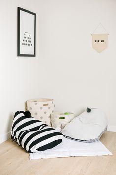 so clean and comfy Kids C, Children, Design Lab, Trendy Home, Kidsroom, Kids Furniture, Playroom, Nursery Decor, Bean Bag Chair