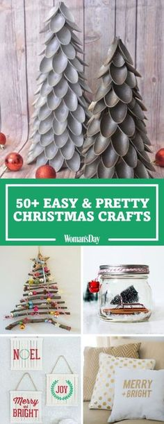 Get your creative juices flowing this holiday season. Your guests will never know that the miniature trees are made from plastic spoons, cardboard and spray paint.