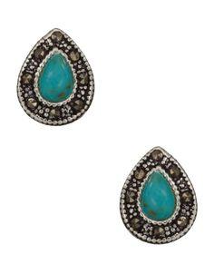 Sterling Silver Marrakesh Turq Teardrop Earrings Accessorize Bags, Jewelry Box, Jewellery, Teardrop Earrings, Women's Accessories, Studs, Gemstone Rings, Turquoise, Purses