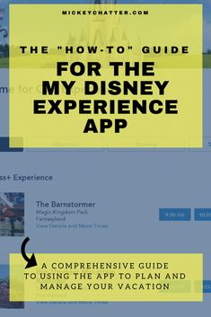 Tips on how to use the My Disney experience app to plan and manage your Disney World vacation Disney World App, Disney World Vacation Planning, Walt Disney World Vacations, Disney Planning, Disney Travel, Disney World Tips And Tricks, Disney Tips, Disney Love, Disney Stuff