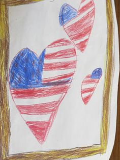 veterans day flag art