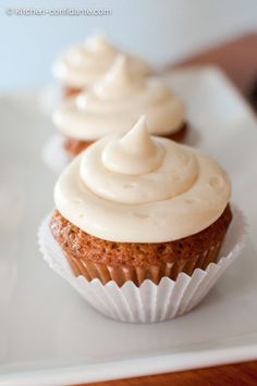 Zucchini-Chocolate Chip Cupcakes with Cream Cheese Frosting