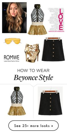 """""""Romwe #2"""" by aleesha-487 on Polyvore featuring GUESS and Sophie Theallet"""