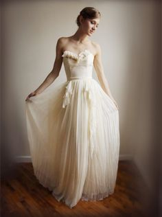 Alice Silk Chiffon Wedding GownEtsy Exclusive by Leanimal on Etsy, $1,625.00