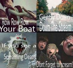 Don't forget to scream!