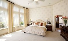 Spacious master bedroom!  Just love the windows!  #lennardreamhome