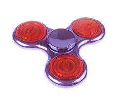 MISEMIYA - Fidget Spinner de Dedo, Juguete Anti-Ansiedad para Niños Jóvenes Adultos, Juego Relax - Spinner Fidget, Metal Aluminio Con Luz de LED Colores,L03