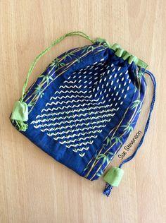 Hitomezashi Sashiko- drawstring bag Drawstring Backpack, Gym Bag, Backpacks, Bags, Handbags, Backpack, Backpacker, Bag, Backpacking