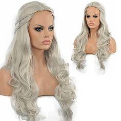 Diy-Wig Light Grey Long Wavy Wigs Heat Resistance Bride P... https://www.amazon.com/dp/B01BEWYRJ2/ref=cm_sw_r_pi_dp_x_fVF3xbT9BCPVF