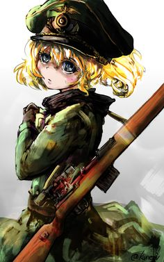 In the cold fronts of war with nobility and madness stood our Cute yet evil Loli Tanya Chan.