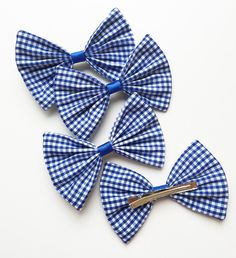 Large gingham hair bows £1.50 each at www.dreambows.co.uk #ginghambows #largebows #shopforlargebows #gingham
