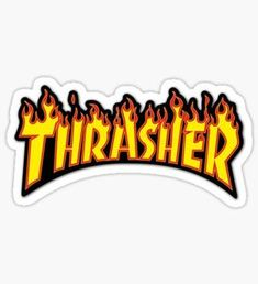 Buy 'thrasher' by as a Sticker. Stickers Cool, Brand Stickers, Bubble Stickers, Phone Stickers, Printable Stickers, Preppy Stickers, Macbook Stickers, Thrasher, Kyoto