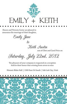 Formal Wedding Announcements: I love something like this..