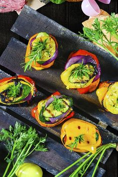 Toss this grilled vegetable medley on top of a juicy grilled steak or beside a leg of lamb to add a splash of color, they taste smoky sweet and are super colorful.