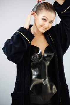 Pin for Later: The 2015 Pirelli Calendar Is Here and It's NSFW — and Covered in Latex Miss November Gigi Hadid