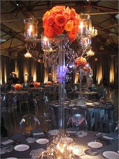 Concept of a lucite candelabra....