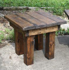 Custom Made Rustic & Western Furniture Farmhouse End Tables, Wood End Tables, Rustic Farmhouse, Pallet End Tables, Diy Pallet Furniture, Rustic Furniture, Western Furniture, Antique Furniture, Pallet Beds
