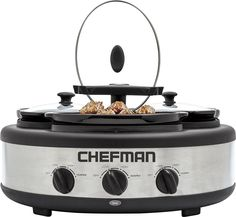 Chefman - 4.5-Quart Slow Cooker - Stainless