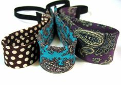 Website shows lots of ideas for upcycling silk ties (headbands, here) but not a lot of links to tutorials. Mostly easy to figure out though!