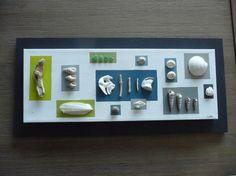 Déco esprit bord de mer - tableau en coquillages et bois flotté