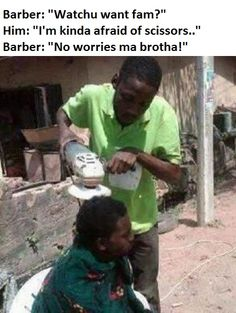 If you have the same problem, here is the barber for you!!    Funny Jokes, Quotes, Pictures, Video