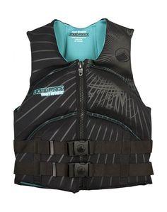 Liquid Force Heartbreaker Life Vest in Black ----- #wakesurf #wakesurfing #liquidforce #wakeboard #wakeboarding #lifevest