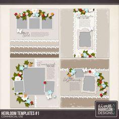 Digital Art :: Templates :: Heirloom Templates Set #1 Templates
