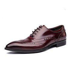 Oferta: 124€. Comprar Ofertas de WZG Los nuevos hombres de British Columbus Locke tallado zapatos de cuero primera capa de zapatos de cuero de zapatos de boda barato. ¡Mira las ofertas!